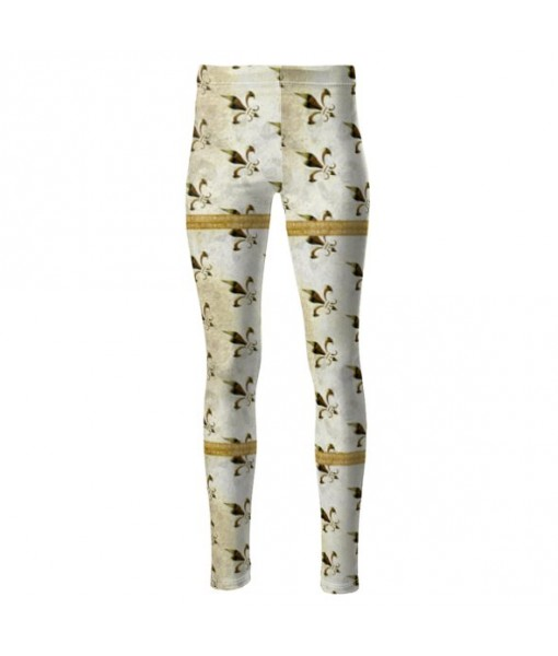 Fleur de Lys High Waisted Leggings