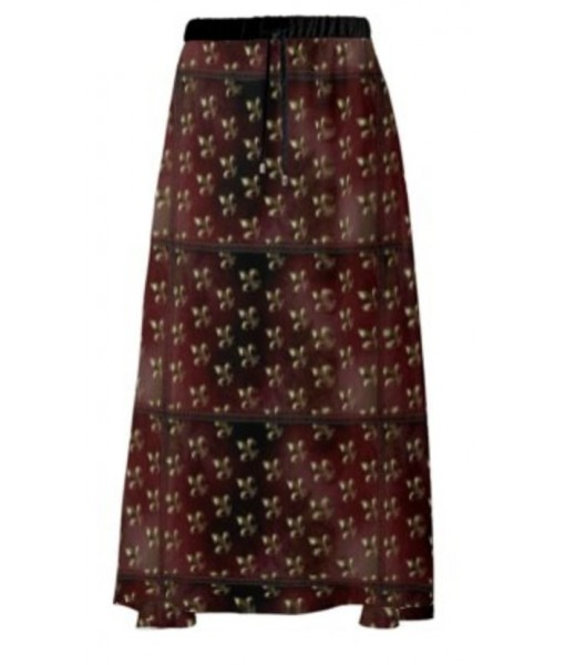 Fleur de Lys Maxi Skirt