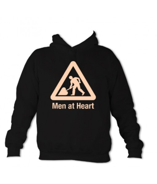 Men at Heart 1 Colour Hoodie